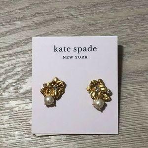 Kate Spade Flower and Pearl Stud Earrings